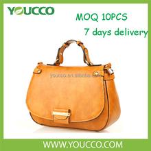 Women genuine yiwu ladies handbags manufacturers fancy brand handbag