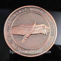 personalizado antiguos america eagle moneda de cobre