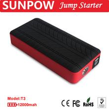 SUNPOW T3 type auto jump starter portable power bank 12000mah