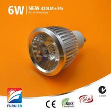 e27 b22 base driverless dimmers for option hot sale 6w led cob par20 220v lighting