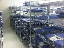 10F - NSF Approval 5 Tiers Chrome Metal Hospital Storage Shelf with Wheels