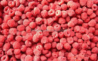 Frozen dried red raspberry fruit