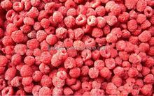 Frozen dried red raspberry fruit