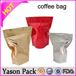 Yason foil coffee bag foil lined kraft paper coffee bags biodegradable block bottom coffee bag