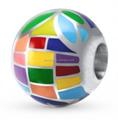Multicolor 925 perlas de esmalte de plata con el agujero