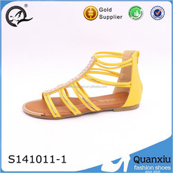 summer fashion footwear flat gladiator sandal shoes