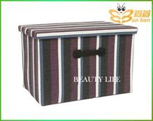 2015 NEW LOVE Flax knit box stripe storage box
