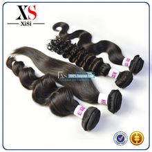 No shedding 6a malaysian remy kinky curly human hair weft beijing hair color for men