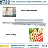 Spiral fishball boiled line/meatball cooking machine processing line