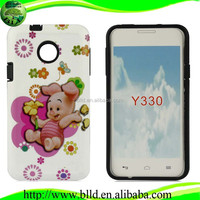 Printing Image hybrid shell tpu pc back case cover accesorios de celulares for huawei ascend y330