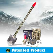 Emergency Kits with Waterproof Rechargeable Led Flashlight Multi-purpose Outdoor Tool Aluminum Spade Shovel DJSV-IV II