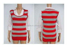 Junior plus size 3-quarter sleeve sweater shirt stocks