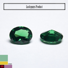 Wholesale oval shape perfect cut loose cz emerald stone prices