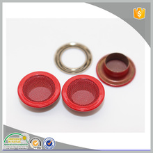 Lead-free red color round mesh metal eyelets and hooks for leather