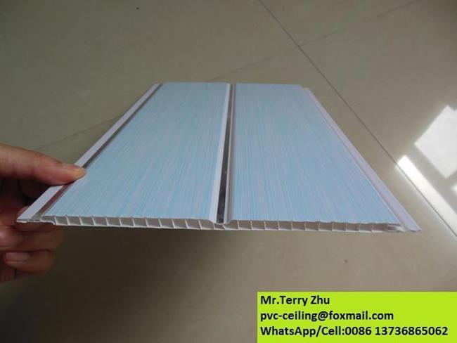 Faux plafond pvc panneau stretch groove mod le chine usine for Faux plafond plastique
