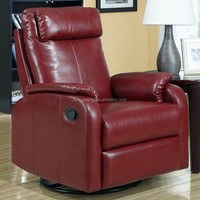Italy genuine leather swivel rocker electric recliner chair