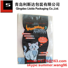 laminated printed plastic silica gel cat litter bag