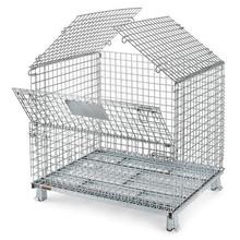stainless steel supermarket milk Roll Metal Storage Cage