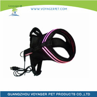 high-end USB charging different color led harness for dog