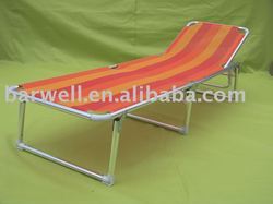 Aluminum folding beach sun bed