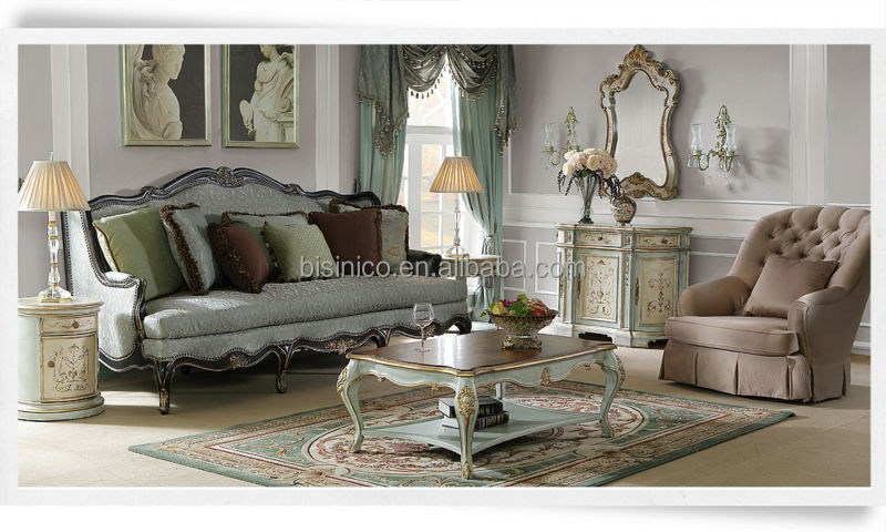 Replica vintage sofá 3 plazas en el estilo americano, jade frío ...