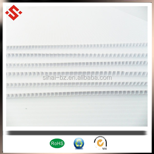 white coroplast sheet