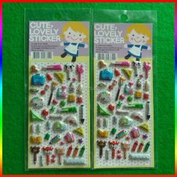 Various Carton 3d Puffy Sticker, foam sticker