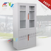 Steel Cupboard Locks Glass Door Display Cabinet