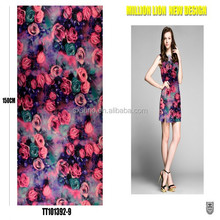 wholesale printed smooth satin fashion 100% polyester fabric