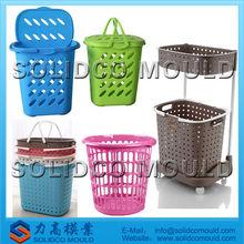Ropa de plástico cesta de molde& del molde