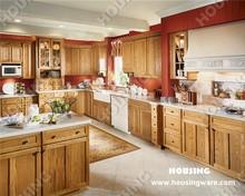 customized Solid wood kitchen cabinet whit beautiful island