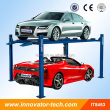 Hydraulic double level 4 post car lift parking