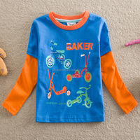2-6Y (T2105#BLUE)Export children wear wholesale cool t shirts for baby boy