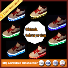 fashion adult colorful light flashing waterproof LED shoes