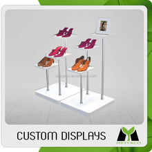 2015 customized top sell metal display rack for shoe retail shop