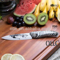 Natural Black and White Stripes Printing Handle with Zebra Printing Blade ceramic knife