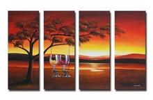group oil painting ,modern art,landscape