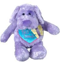 lifelike sleeping pet /purple dog toy/stuffed plush dog toy