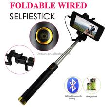 photo studio props portable cable take pole wired selfie stick