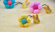 JP8280 New design delicate rabbit flower sweet hair bands for kids 2015