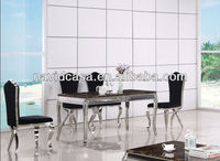 Stone top dining table chairs