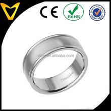 Fashion Jewelry Grade Titanium Ring Factory Direct Sale Cheap Titanium Ridged Edge 6mm Band Satin & Polished Men's Wedding Ring