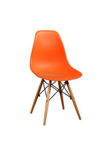plastic dining chair with wooden legs SY-TC07
