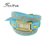 2015 New Model Multilayers Bracelet Style Wrist Watch