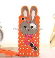 custom animal shaped designer bulk cheap rabbit ear silicone mobile phone case