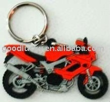 Fashion motorcycle design promotional gifts soft pvc keychain