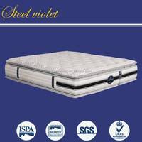 New designsluxury double pillow top mattress