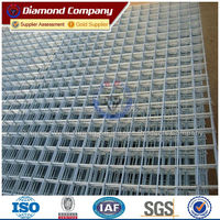 4x4 galvanized steel wire mesh panel/welded wire panel 4x4
