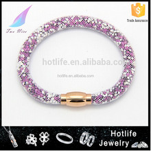girls party dresses 2014 top selling colorful crystal magnetic stardust bracelets