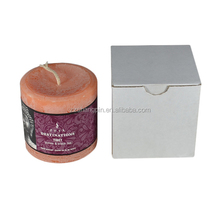 2015 popular recyclable paper candle packaging box